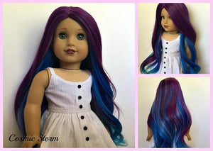 Zazou Dolls Exclusive Twilight WIG Cosmic Storm for 18 Inch dolls such as  OG and American Girl