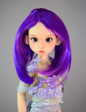 "ZaZou Luxury Collection ""Violet Twilight"" Purple Wig for 18"" MSD BJD Kaye Wiggs"