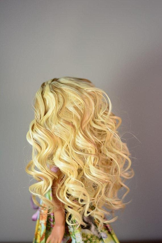 "Zazou Luxury Collection ""Fun Ringlets"" Blonde Wig for 13"" Effner Little Darling"