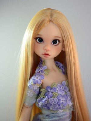 "ZaZou Luxury Collection ""Eowyn's Dawn"" Blonde Wig for 18"" MSD BJD Kaye Wiggs"