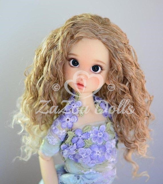 "ZaZou Luxury Collection ""Fun Ringlets"" Blonde Wig for 18"" BJD Kaye Wiggs"