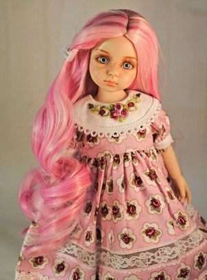 "Zazou Luxury Collection ""Fun Ringlets"" Pink Wig for 13"" Effner Little Darling"