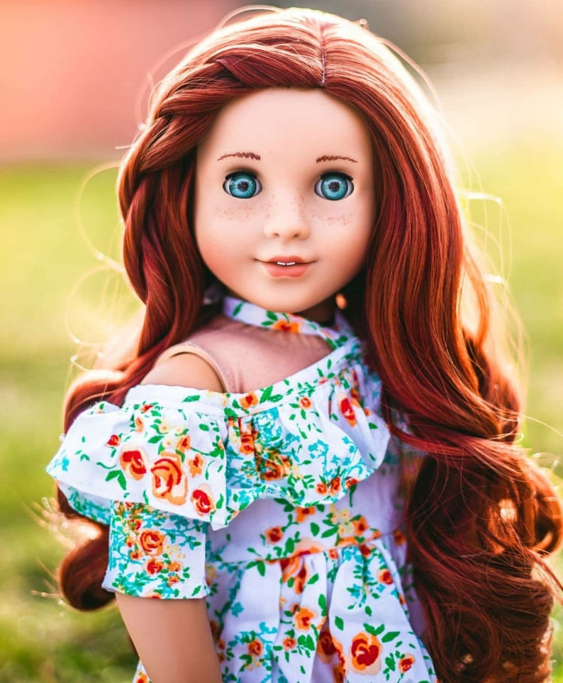 Zazou Dolls Exclusive  WIG Blaire for 18 Inch dolls such as Our generation, Journey Girls and American Girl