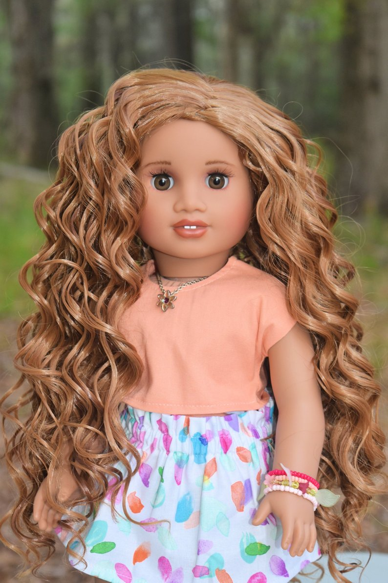 PREORDER: Zazou Dolls Exclusive WIG Glazed Strawberry for 18 Inch dolls such as  American Girl