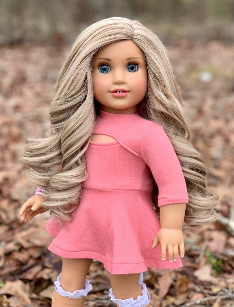 Zazou Dolls Exclusive Lovely WIG Sandy Beach for 18 Inch dolls such as Journey and American Girl