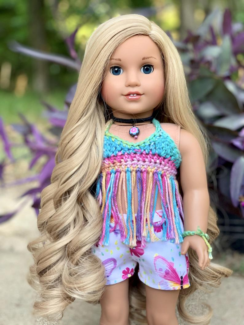 Zazou Dolls Exclusive WIG Cascading Marsha for 18 Inch dolls such as OG and American Girl