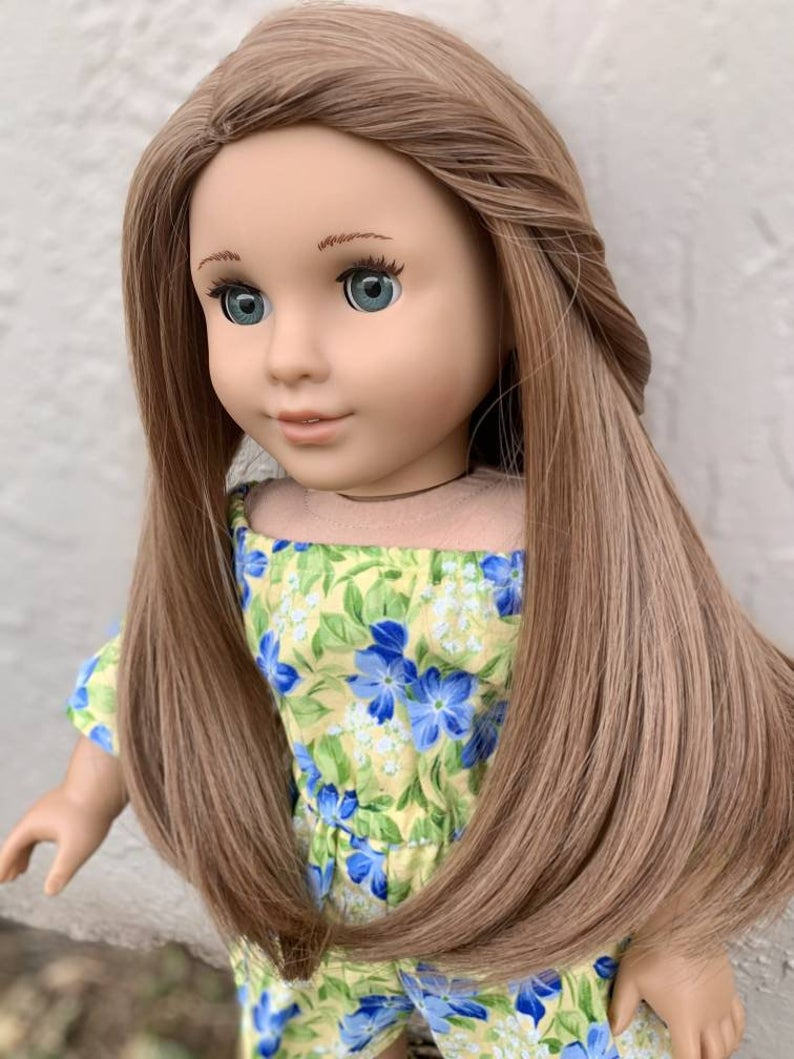 Zazou Dolls Exclusive Sweetie ginger WIG for 18 Inch dolls such as Our Generation, Journey Girls and American Girl