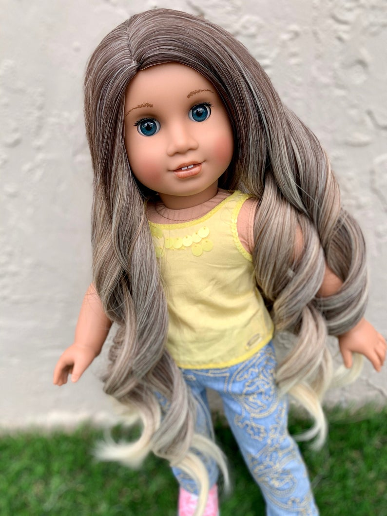 Zazou Dolls Exclusive Dyed Ombre Oakley WIG for 18 Inch dolls such as Our Generation, Journey Girls and American Girl