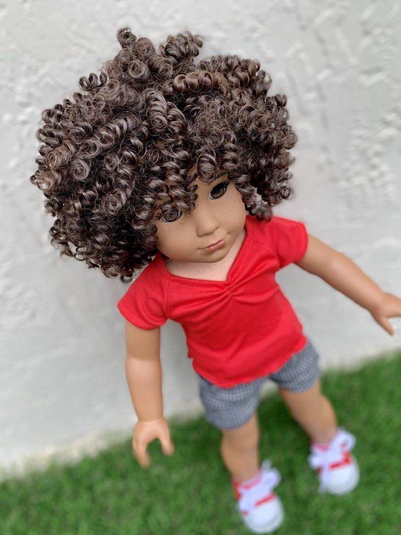 Zazou Dolls Exclusive Boho Chic Java WIG for 18 Inch dolls such as Our Generation, Journey Girls and American Girl Pre order