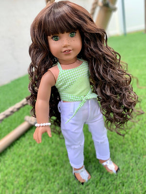 Zazou Dolls Exclusive Hershey Kisses WIG for 18 Inch dolls such as Our Generation, Journey Girls and American Girl  Pre order