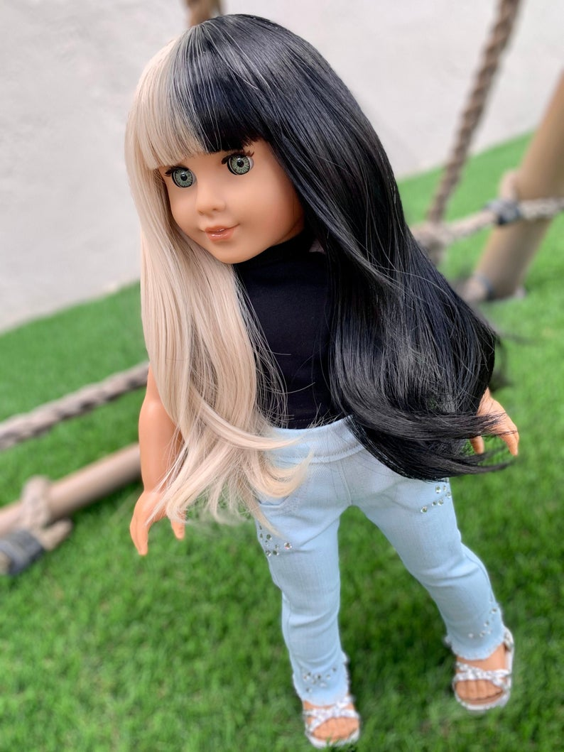 Zazou Dolls Exclusive WIG Melanie for 18 Inch dolls such as Our Generation, Journey Girls and American Girl