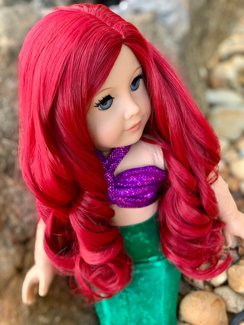 Zazou Dolls Exclusive WIG Mermaid Kisses for 18 Inch dolls such as Our Generation, Journey Girls and American Girl