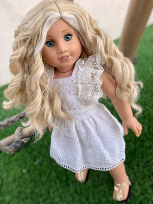 Zazou Dolls Exclusive Blonde Angel WIG for 18 Inch dolls such as Our Generation, Journey Girls and American Girl  Pre order