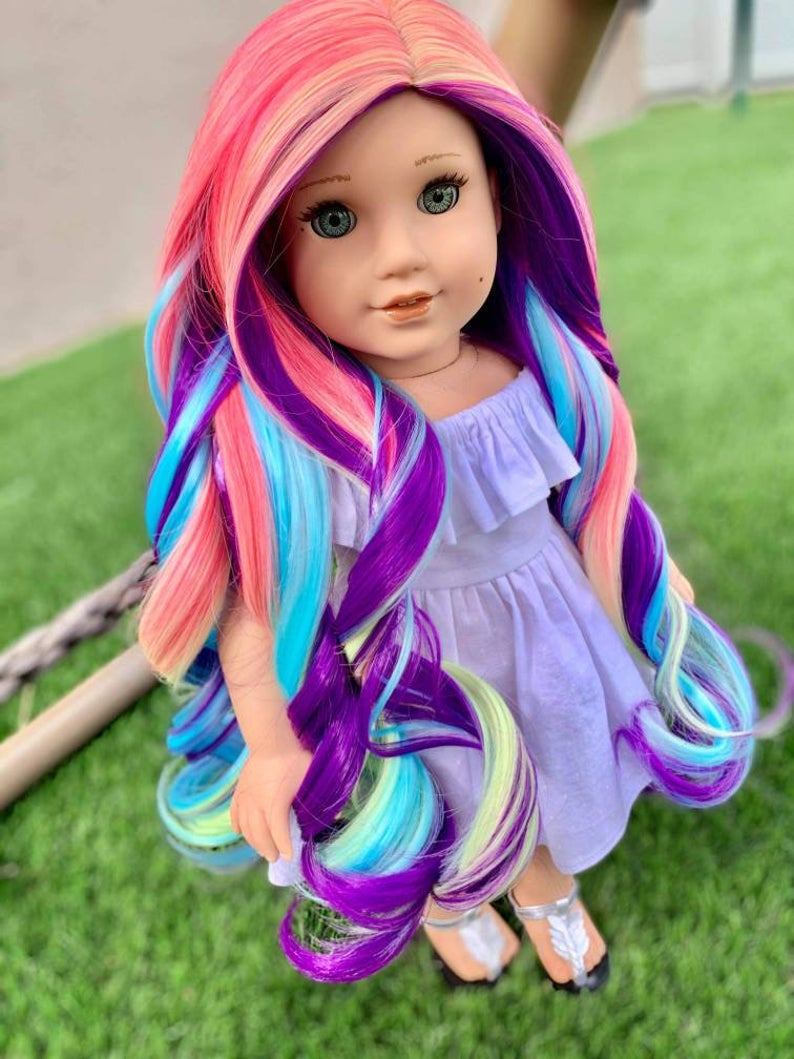 Zazou Dolls Exclusive Confetti WIG for 18 Inch dolls such as Our Generation, Journey Girls and American Girl