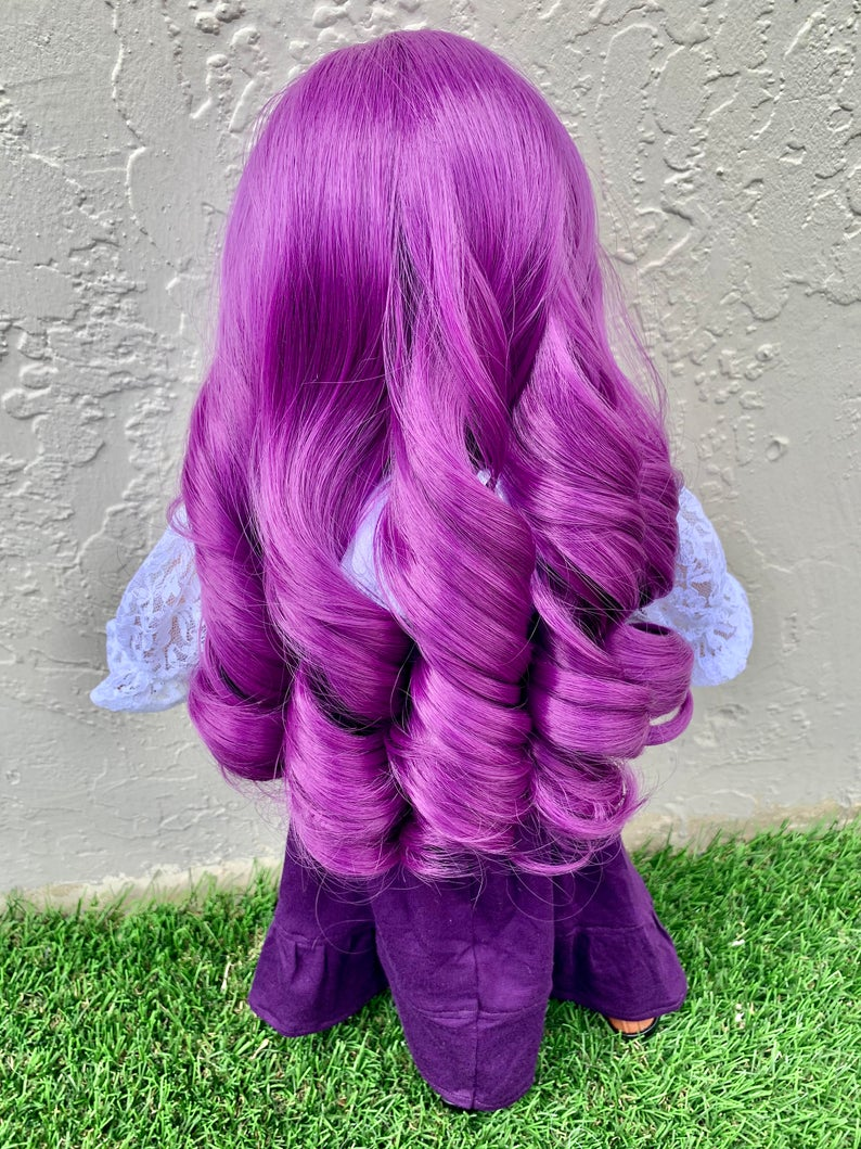 Zazou Dolls Exclusive WIG Sugared Plum for 18 Inch dolls such as Our Generation, Journey Girls and American Girl Plum Fairy replacement