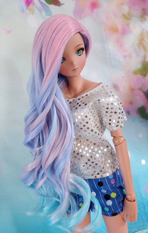Zazou Dolls Exclusive Birthday Party WIG for Smart doll and Ruby Red Fashion Friends dolls