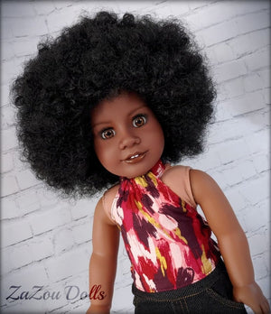 Zazou Dolls Exclusive WIG Imani Afro for 18 Inch dolls such as Our Generation, Journey and  and American Girl Pre order