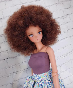 "ZaZou Luxury Anika WIG for Smart Doll, Ruby Red Fashion Friends, 18"" MSD BJD Kaye Wiggs Pre order"
