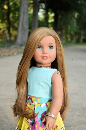 PREORDER: Zazou Dolls Exclusive Beauty WIG  Kenna for 18 Inch dolls such as Journey and American Girl