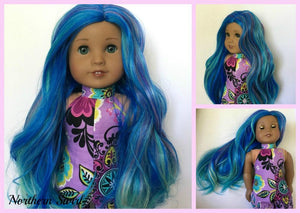 Zazou Dolls Exclusive Twilight WIG Northern Swirl for 18 Inch dolls such as  OG and American Girl