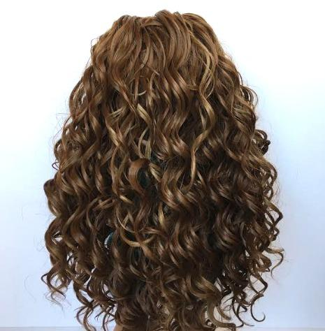 Zazou Dolls Exclusive Beach Waves WIG Ginger Brown for 18 Inch dolls such as OG and American Girl