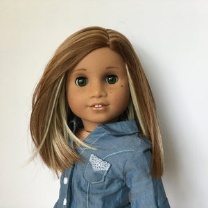 Zazou Dolls Exclusive Lily WIG Caramel Honey for 18 Inch dolls such as Journey and American Girl