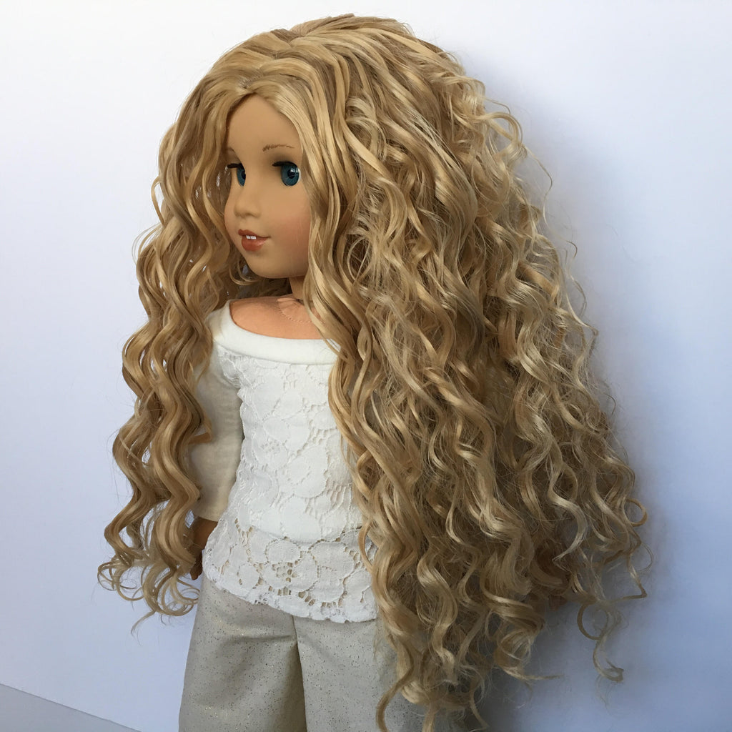 Zazou Dolls Exclusive Beach Waves WIG in Swedish Blonde for 18 Inch dolls such as Journey, Our Generation and American Girl