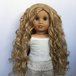 PREORDER: Zazou Dolls Exclusive WIG Swedish Blonde for 18 Inch dolls such as  OG and American Girl