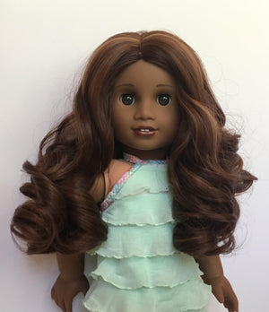 Zazou Dolls Exclusive Lovely WIG Brazillian Auburn for 18 Inch dolls such as  American Girl
