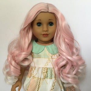 Zazou Dolls Exclusive Lovely WIG Bubblegum Pink for 18 Inch dolls such as Journey and American Girl