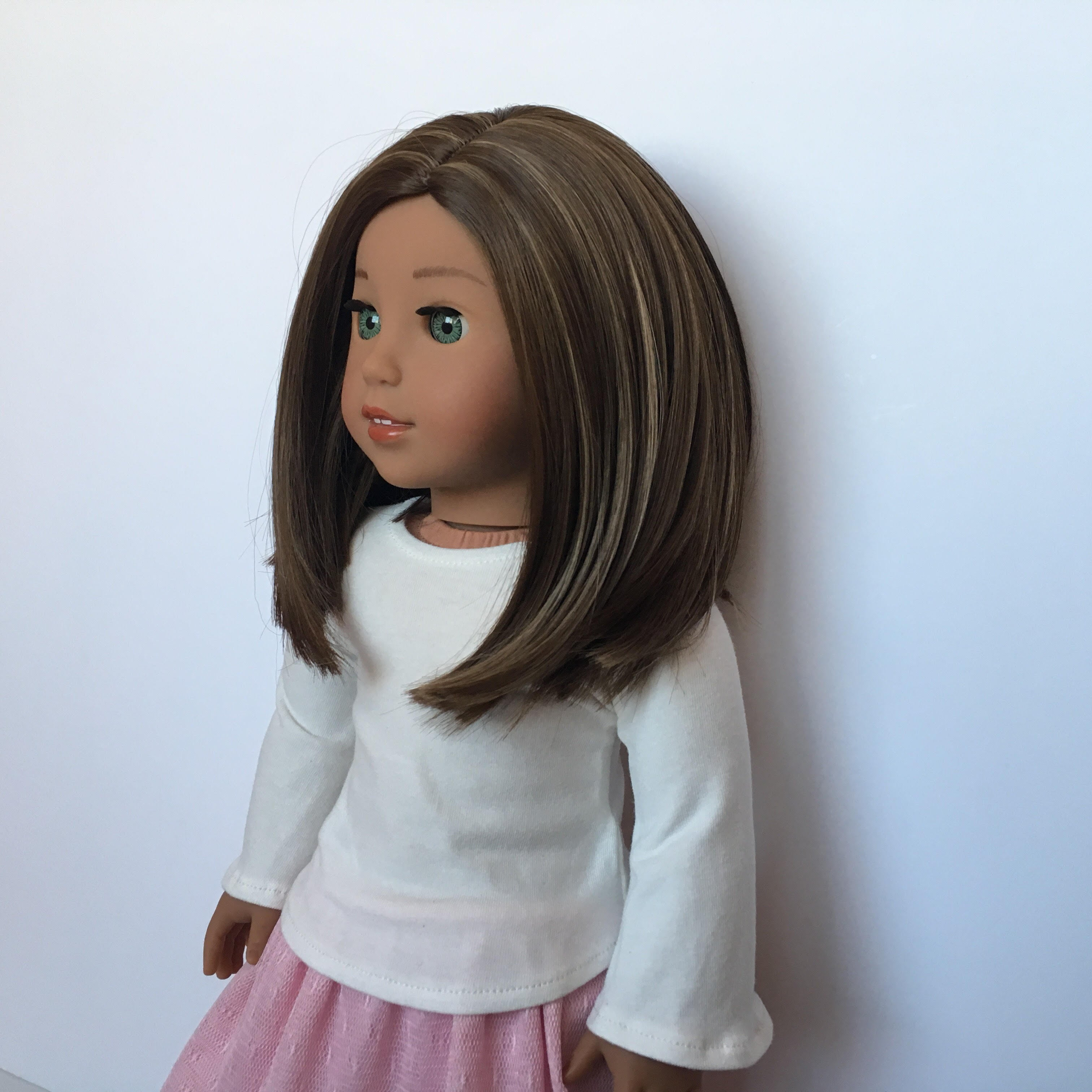 Zazou Dolls Exclusive Lily WIG Brown Cinnamon for 18 Inch dolls such as Journey and American Girl