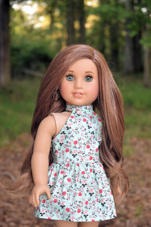 PREORDER: Zazou Dolls Exclusive WIG Brown Sable for 18 Inch dolls such as OG and American Girl