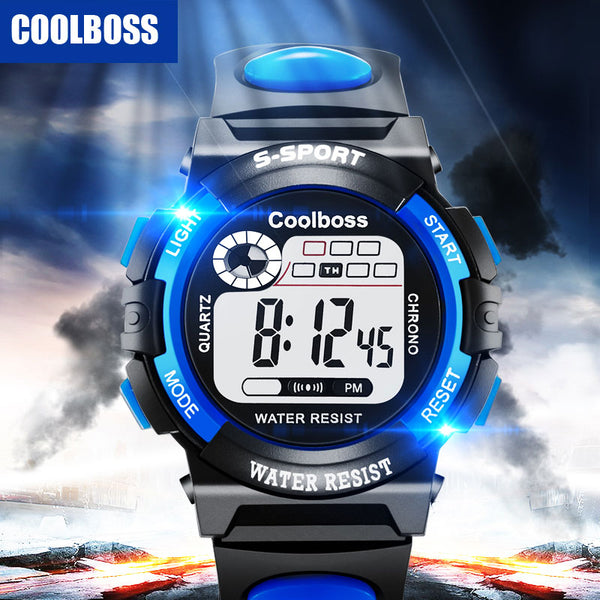 Cool LED Digital Wristwatch for Boys and Girls