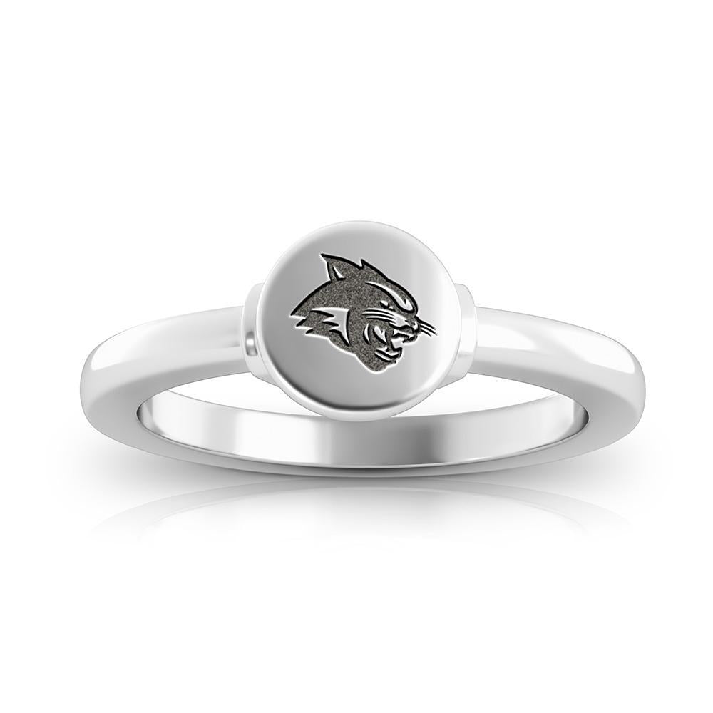Wildcats Logo Engraved Signet Ring Size 10