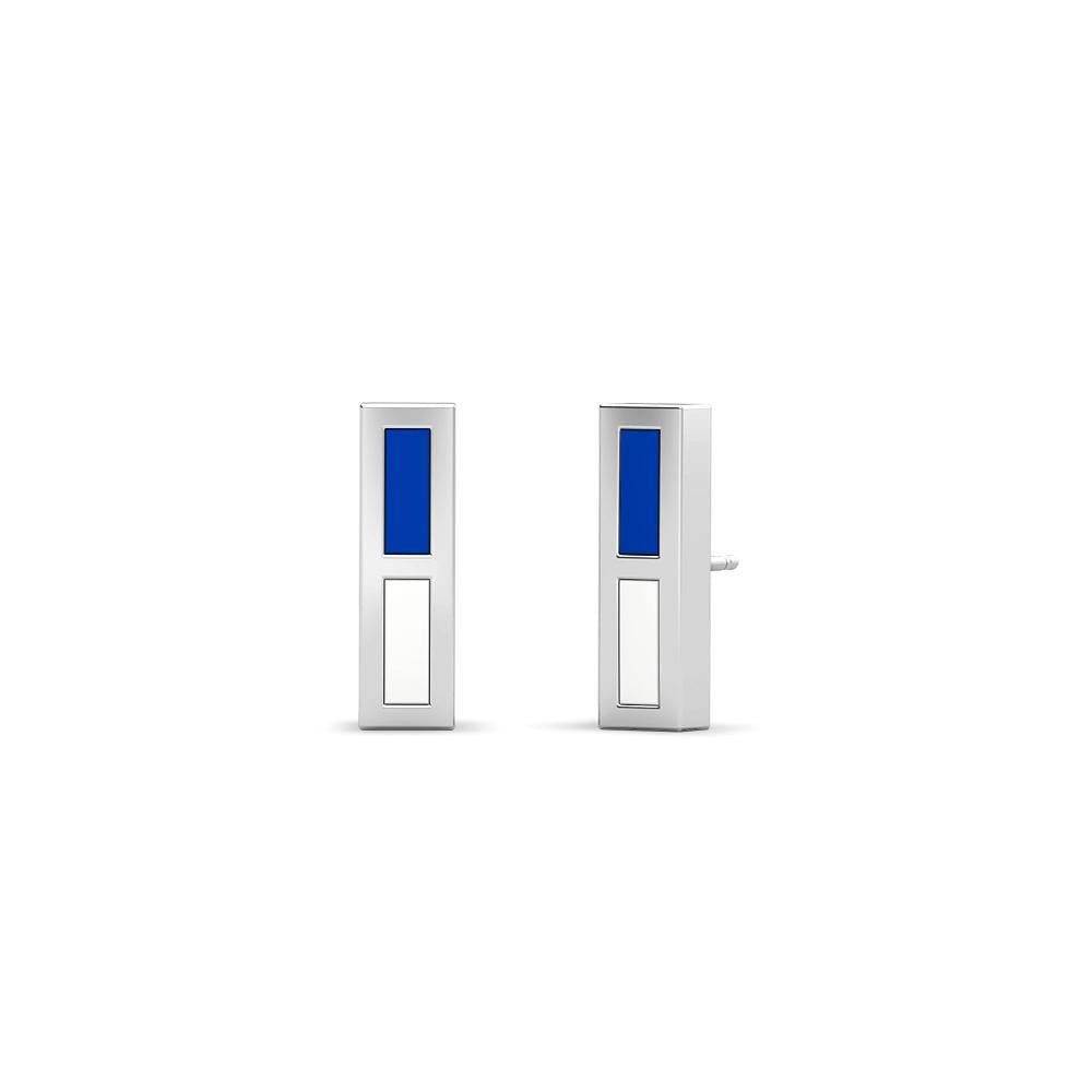 Air Force Academy Enamel Stud Earrings in Sterling Silver
