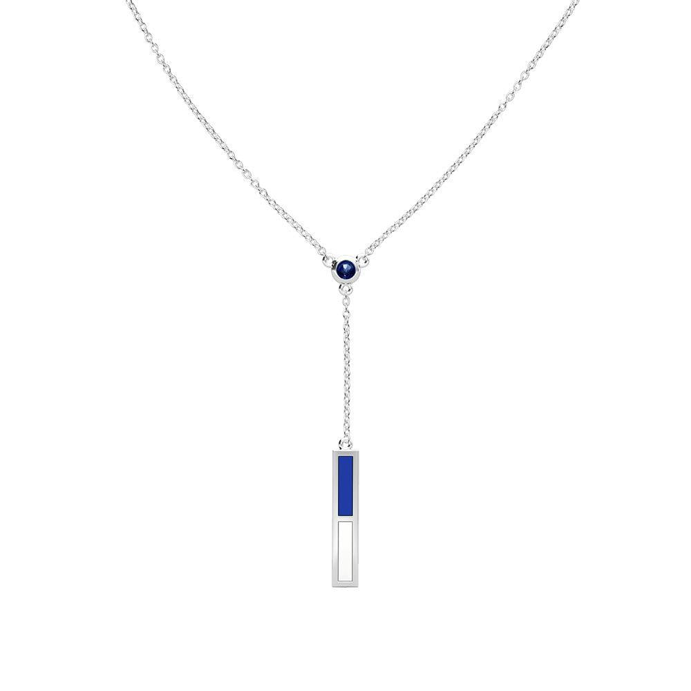 Air Force Academy Sapphire Drop Necklace in Sterling Silver