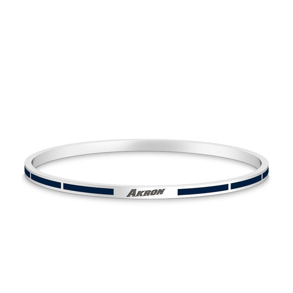 University of Akron Enamel Bracelet in Sterling Silver