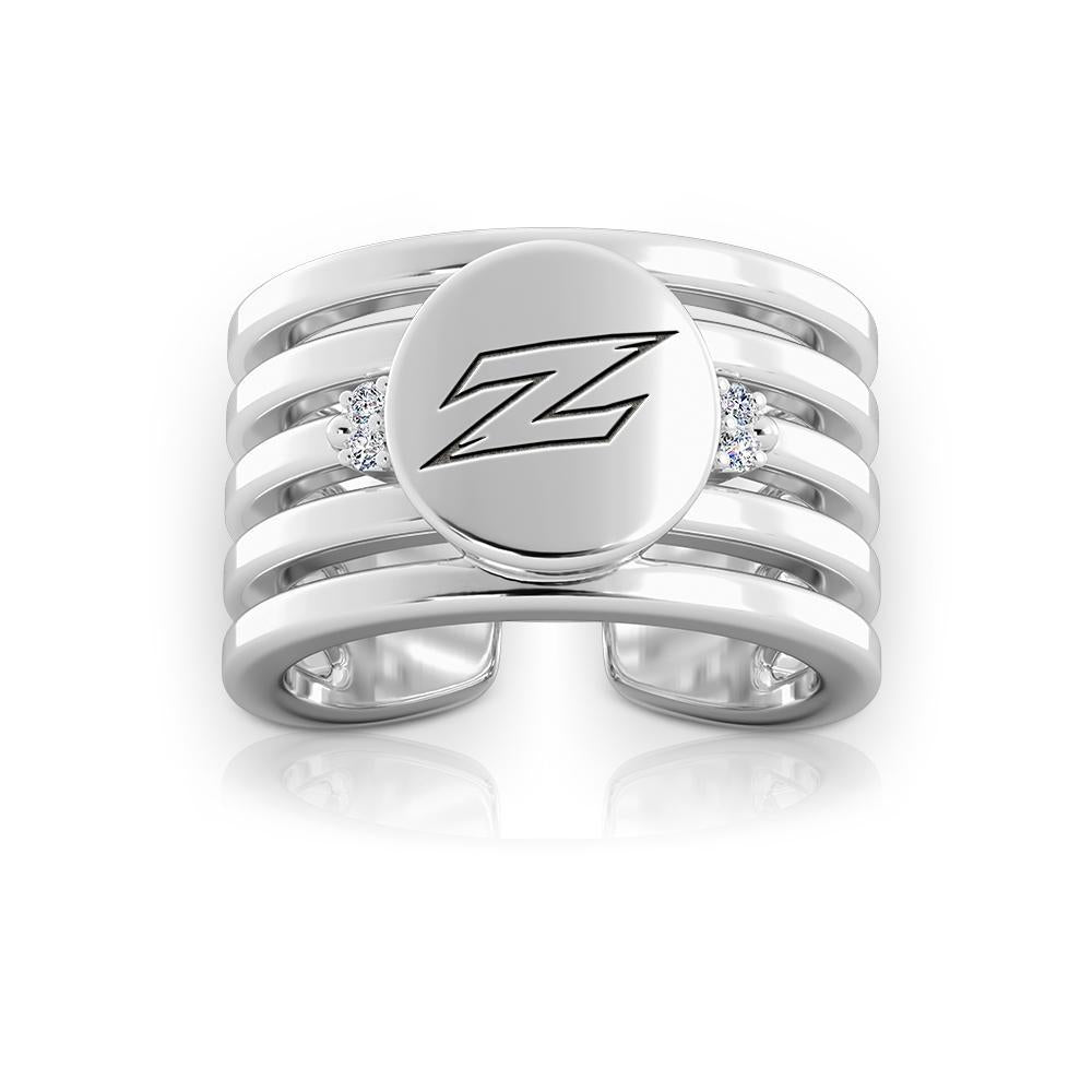University of Akron Multiband Ring in Sterling Silver