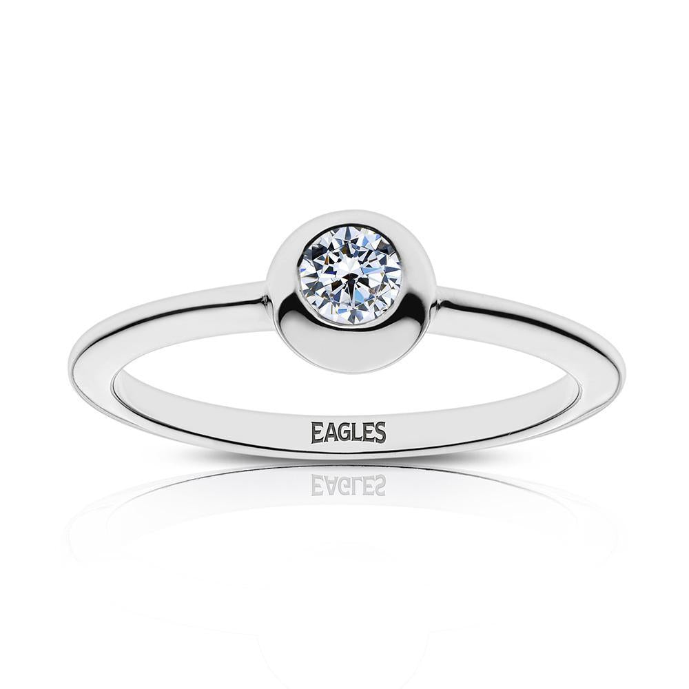 Eagles Engraved Diamond Ring Size 6