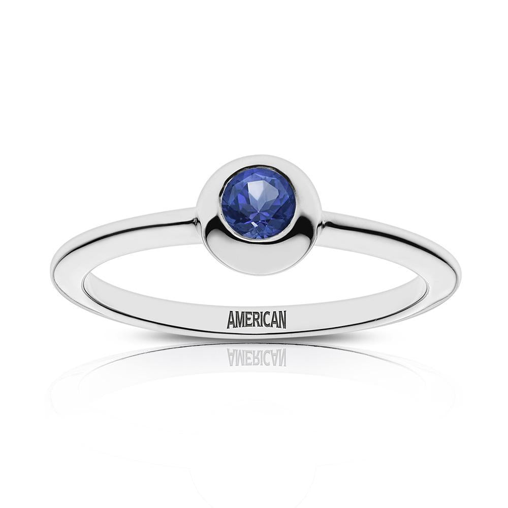 American Engraved Sapphire Ring Size 4