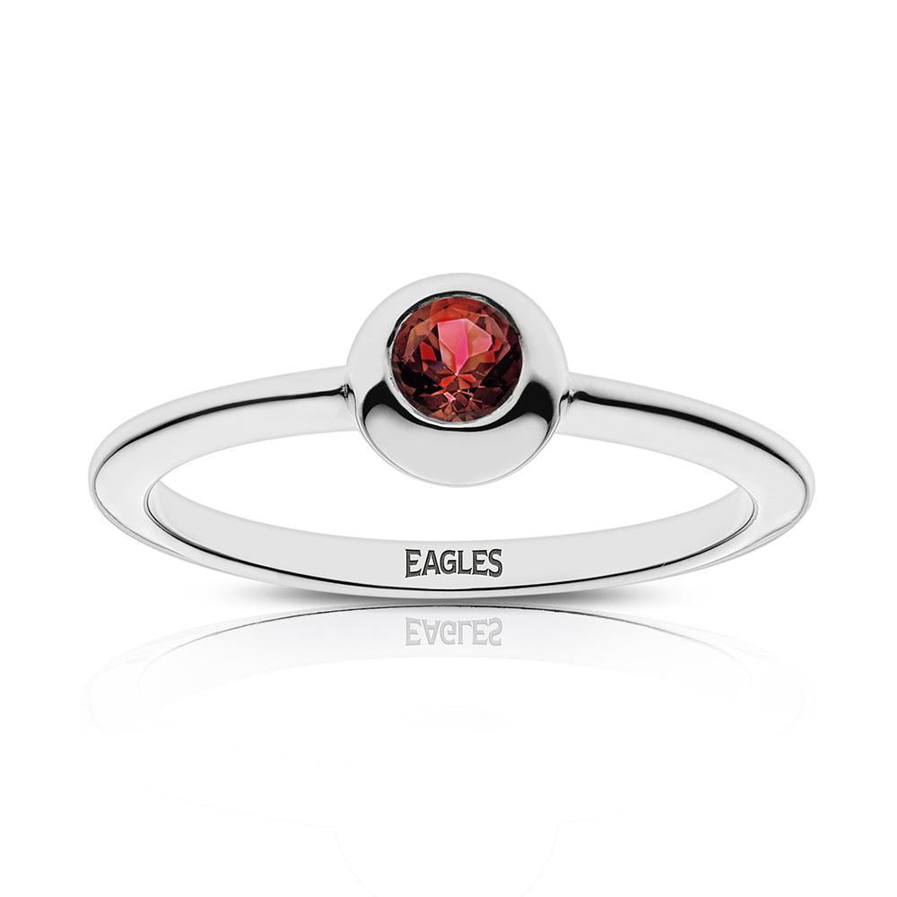 Eagles Engraved Ruby Ring Size 8