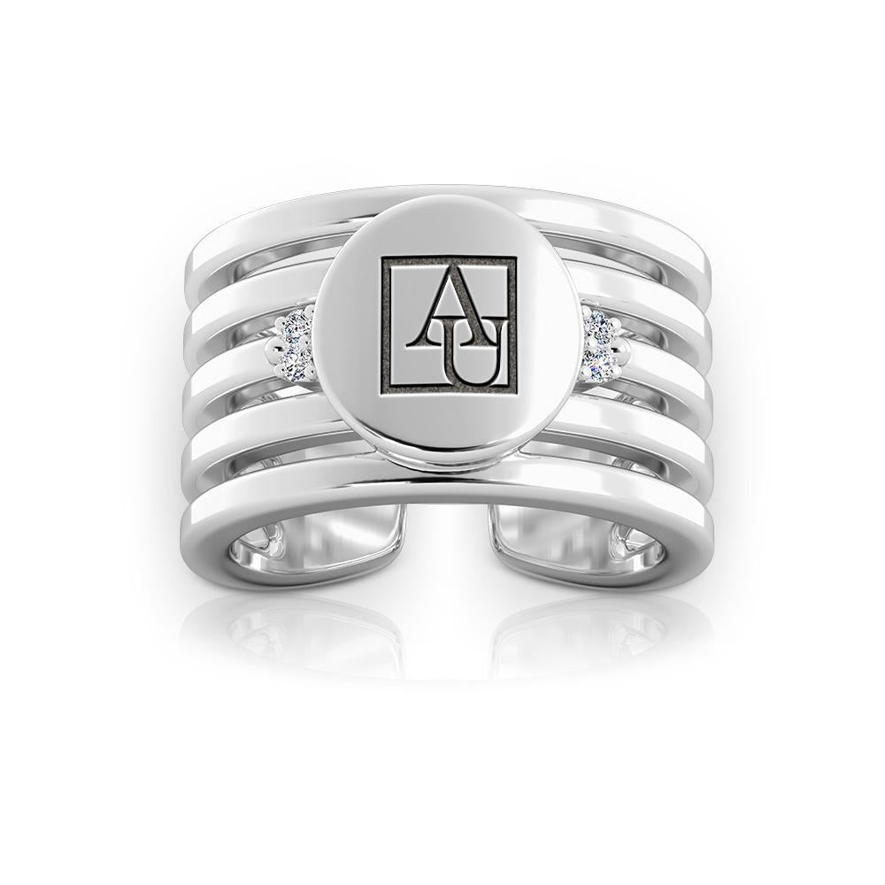Eagles Logo Engraved Multiband Cuff Ring Size 8