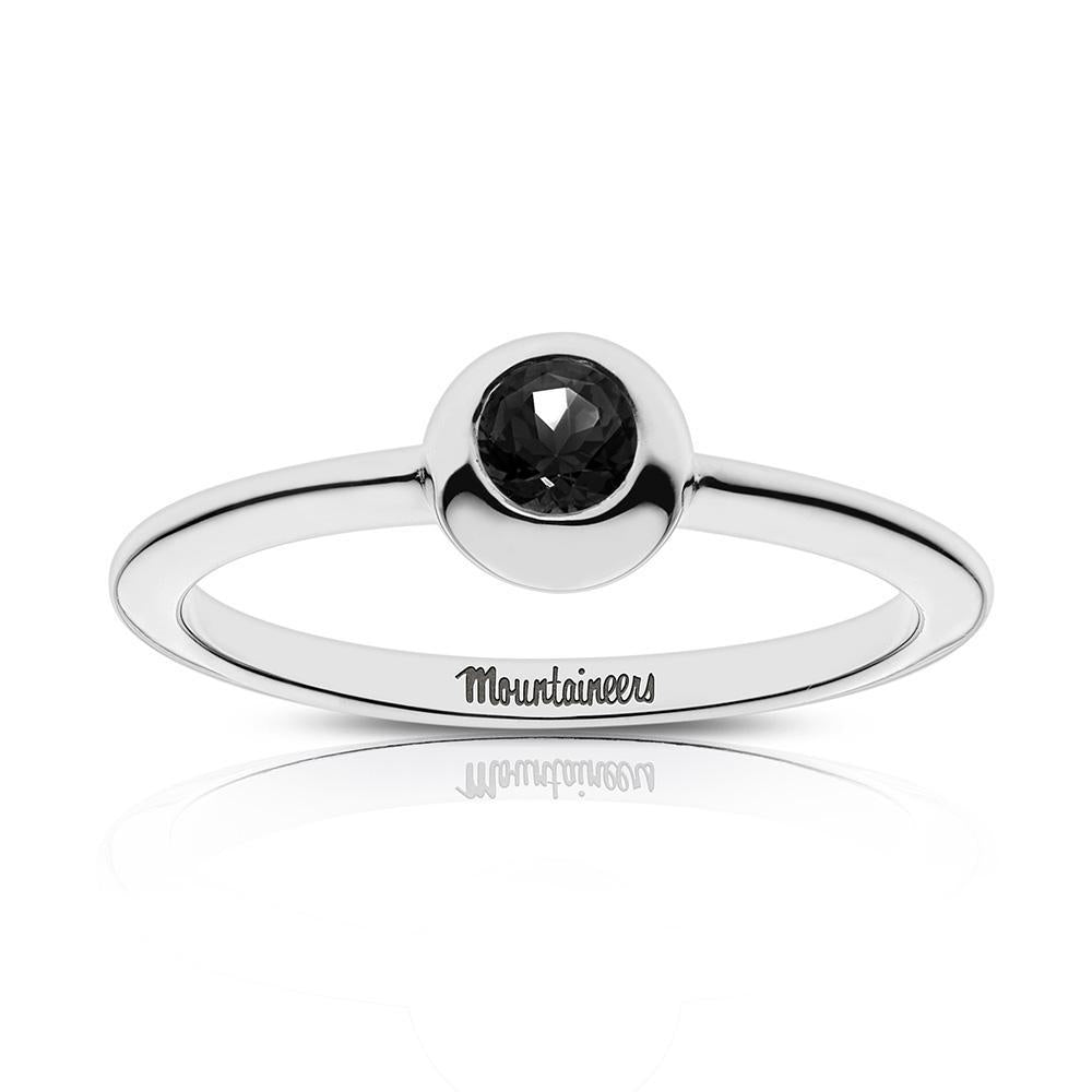 Mountaineers Engraved Black Onyx Ring Size 9