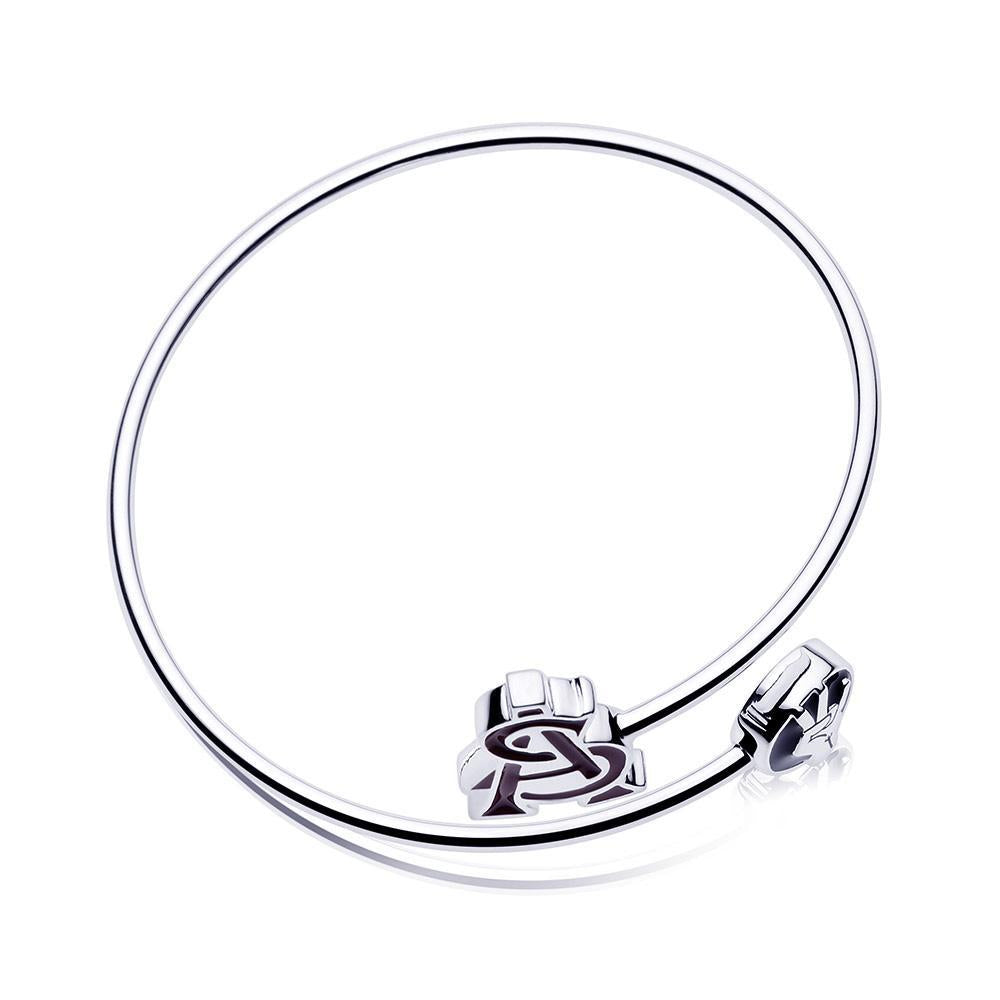Disconnected Bangle in 14K White Gold