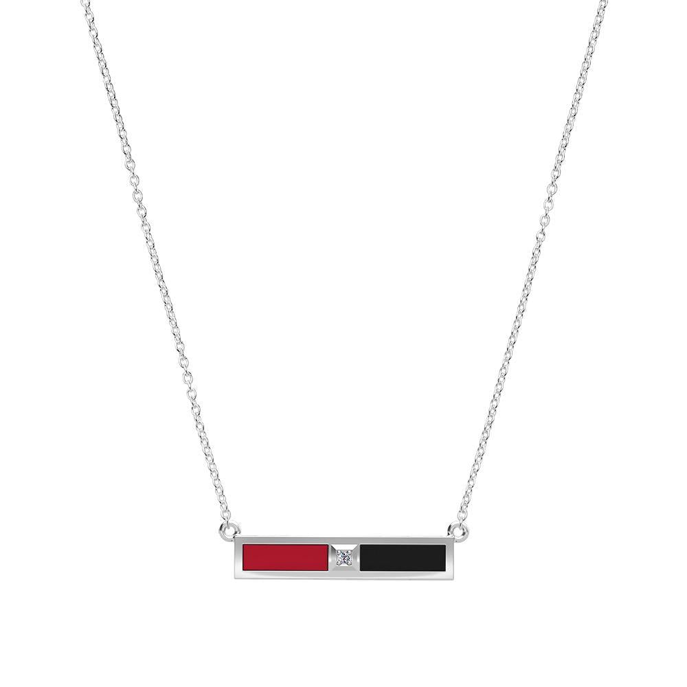 Barry University Diamond Bar Necklace in Sterling Silver