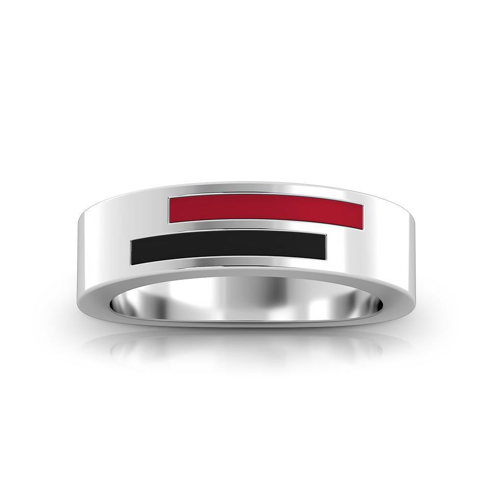 Barry University Asymmetric Enamel Ring in Sterling Silver