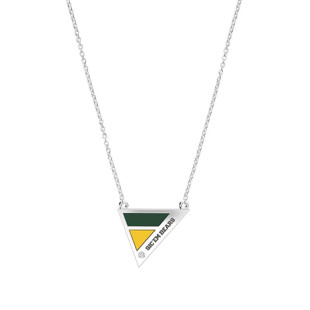 Baylor Diamond Geometric Necklace in Sterling Silver