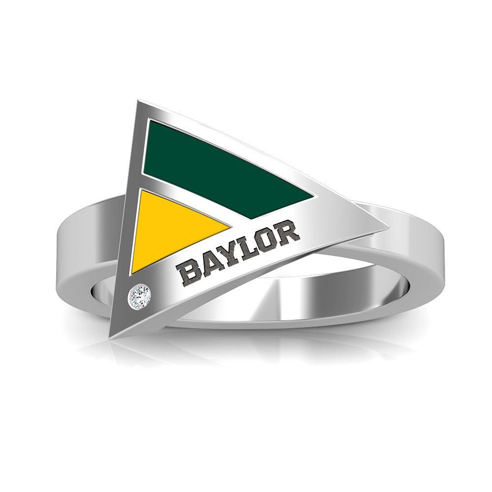 Baylor Diamond Geometric Ring in Sterling Silver