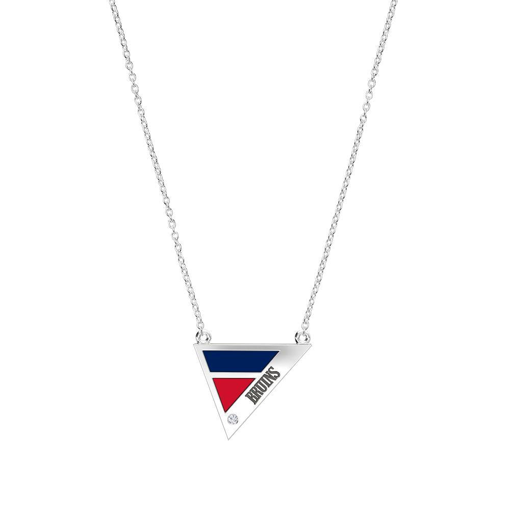 Belmont University Diamond Geometric Necklace in Sterling Silver