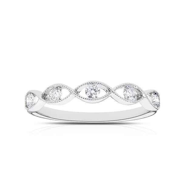 Diamond Stackable Ring in 14K White Gold